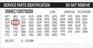 GM RPO Axle Codes